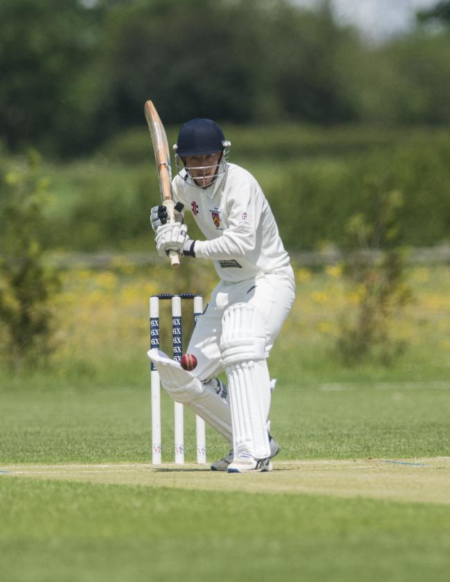 Royal Wootton Bassett's Sam Lawro in batting action during his side's 67-run WEPL Wiltshire win over Corsham 2nd Pictures: claregreenphotography.com