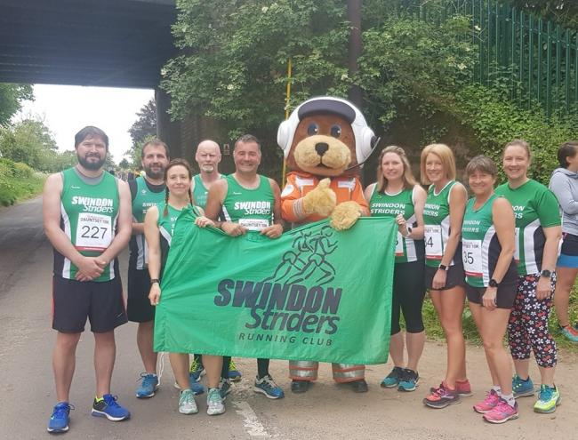 Swindon Striders were a very visible presence at the recent Dauntsey 10k gathering, and members also ran the Edinburgh Half-Marathon