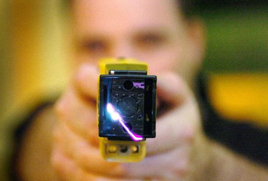 This Is Wiltshire: A Taser gun in use