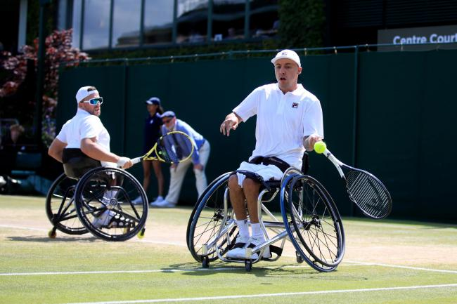Andy Lapthorne and Dylan Alcott are quad wheelchair doubles champions