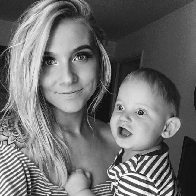 Karly Heweson and her son JJ.