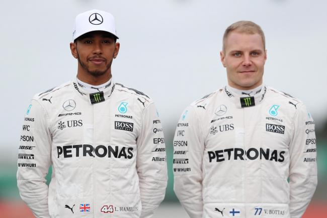 Lewis Hamilton trailed team-mate Valtteri Bottas in second practice