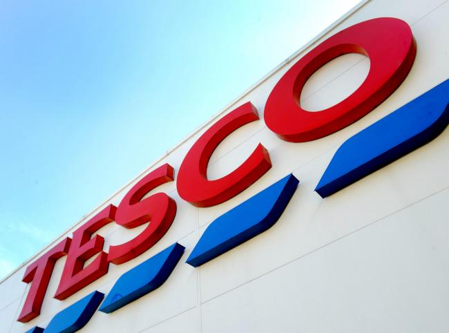 File photo dated 26/08/16 of a Tesco sign. The supermarket has increased prices on more than 1,000 products in the past two weeks, including staples such as bananas, cheese, pasta and jam, new internal documents seen by PA show. PRESS ASSOCIATION Photo.