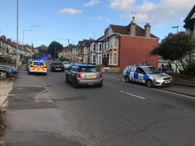 Police at the scene of an incident on Kingshill Picture: SUBMITTED