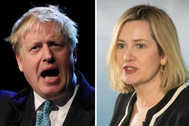 Boris Johnson and Amber Rudd