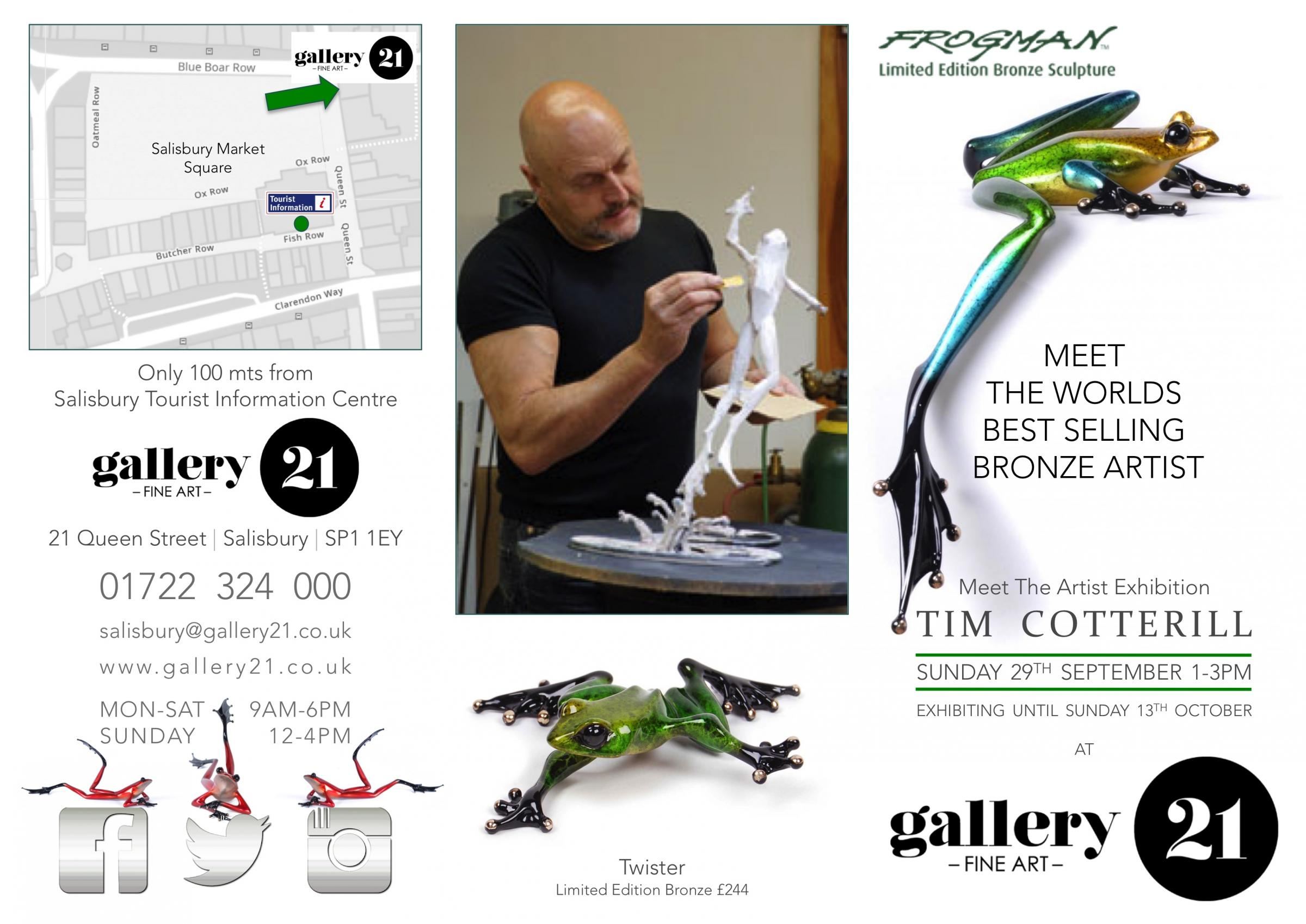 Meet The Artist - Frogman Exhibition - The Worlds Best Selling Bronze Artist Comes To Salisbury