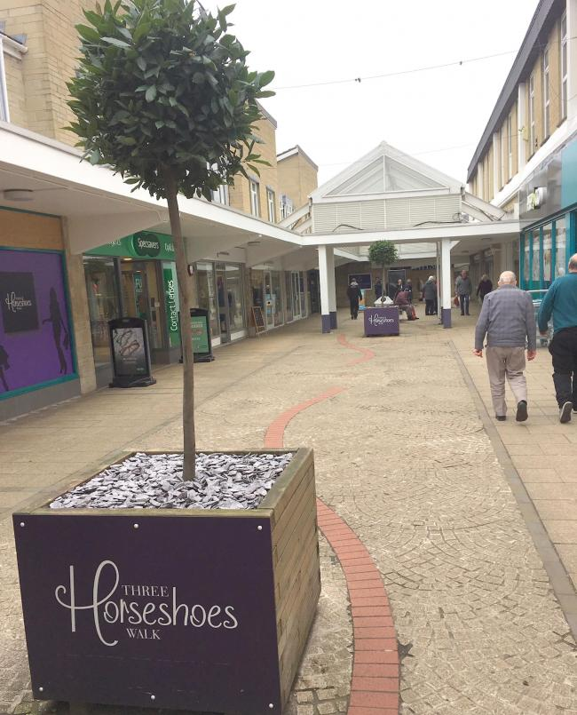 The Three Horseshoes Shopping Centre in Warminster