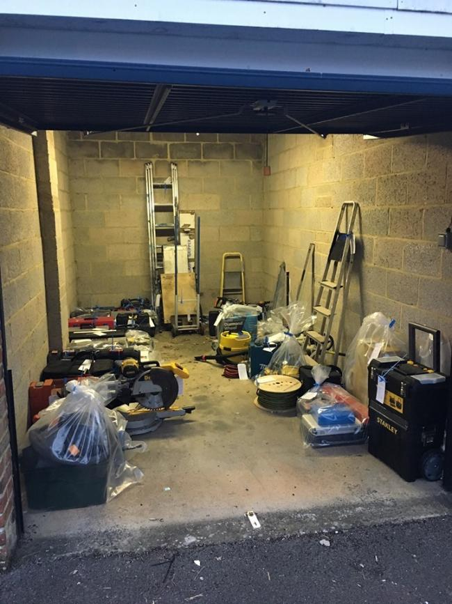 After a long spate of tool thefts, £10,000 worth have been recovered PHOTO: Devizes Police