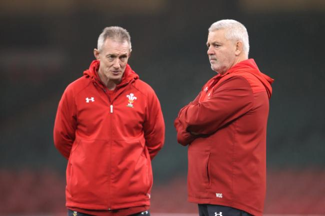 Warren Gatland, right, with Wales backs coach Rob Howley