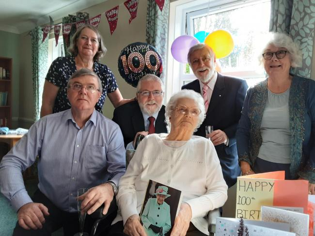 Jeannie Dugdale turned 100, surrounded by her family