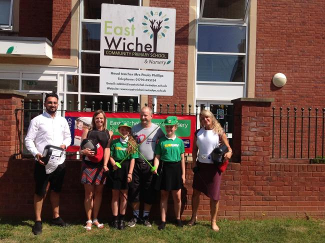 School children in Swindon are learning about a healthy lifestyle through fencing