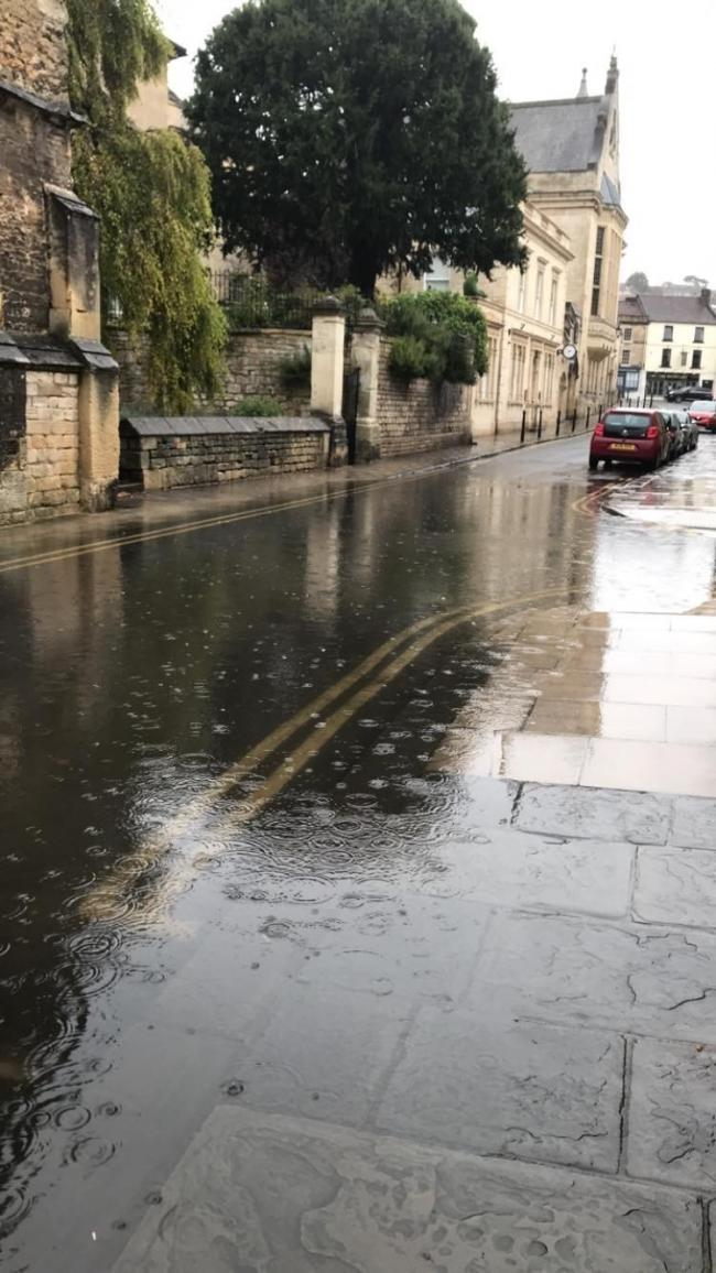 Flooding in Church Street, Bradford on Avon Photo:Pip March