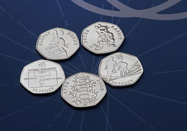 This Is Wiltshire: The rarest 50p coins. Credit: Royal Mint/PA Wire