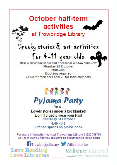 Spooky Stories and Art Activities at Trowbridge Library