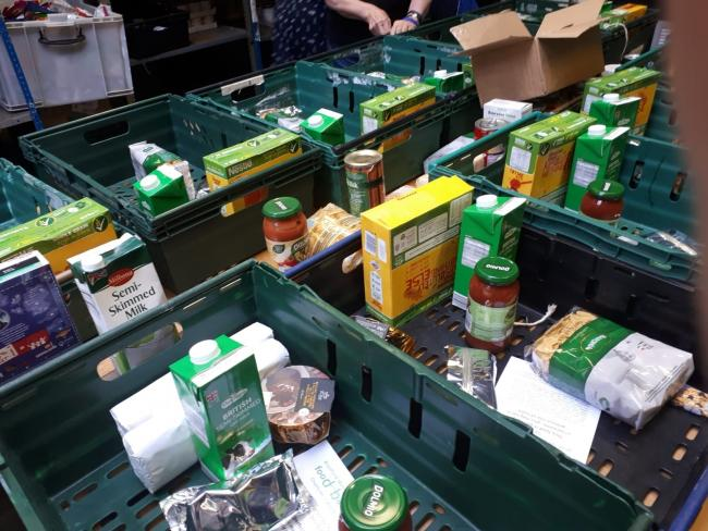Food bank at The Hub in Bradford on Avon