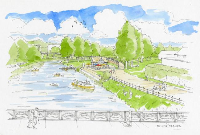 Plans for the £3million bridge link in Chippenham