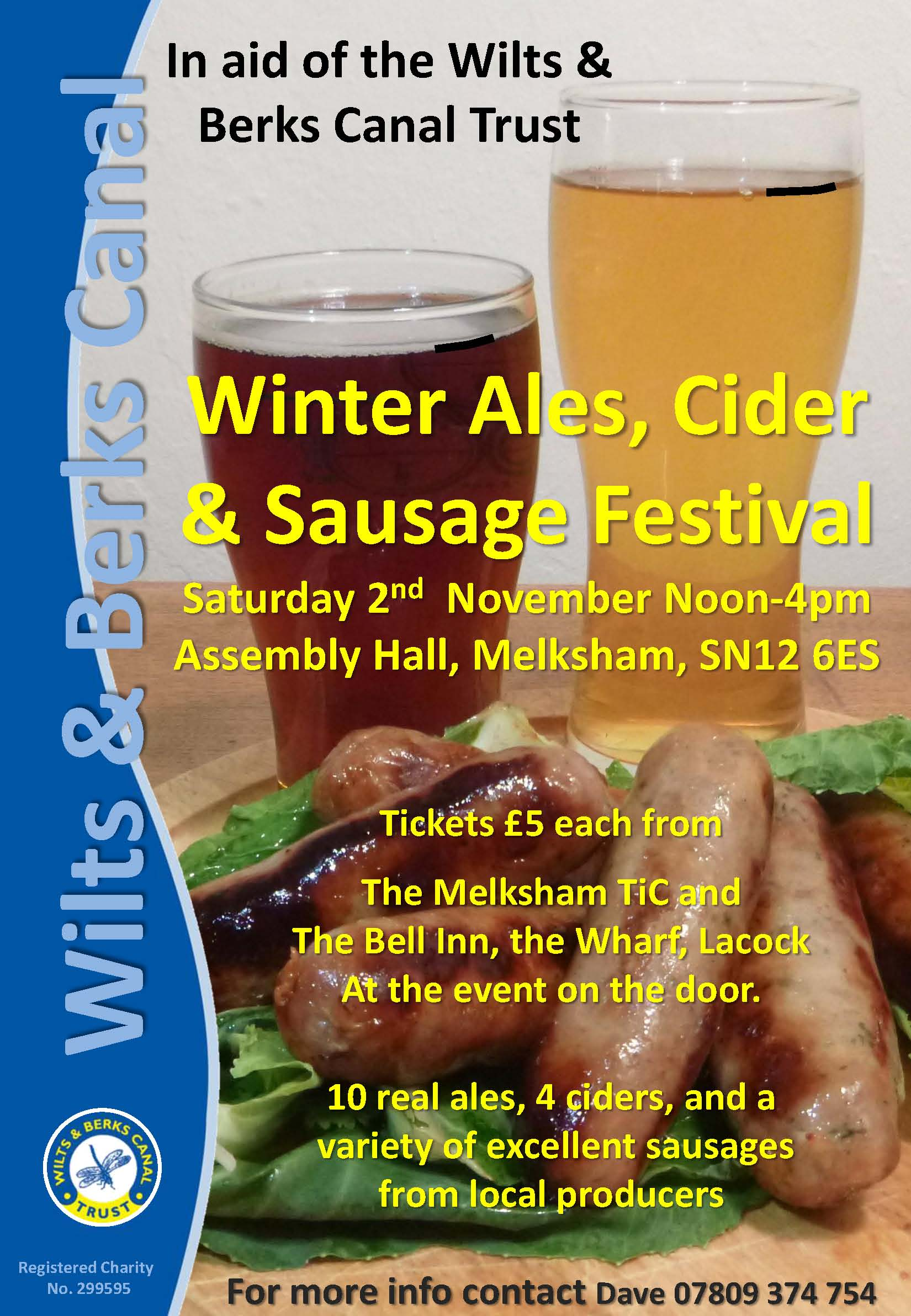 Wilts & Berks Canal Trust Winter Ales, Cider & Sausage Festival