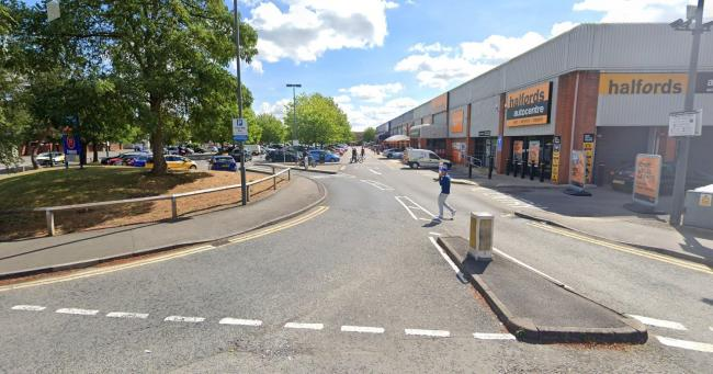 Suspected shoplifter in car park hit and run