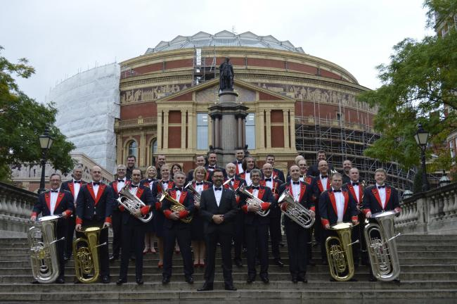 Aldbourne Band perform at Albert Hall