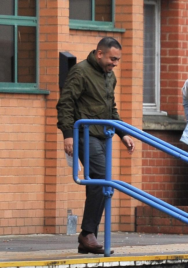 Rihat Noor leaves Swindon Magistrates' Court after being given unpaid work and ordered to pay compensation after he admitted wasting police time and possession of weapons