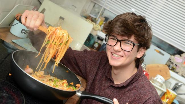 Teenager Luca Wolfe-Murray wants to bring vegan options to his school PHOTO: Siobhan Boyle