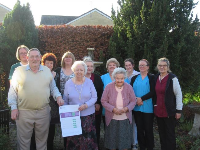 Residents and staff at Kingston Houseare celebrating the recent improvement