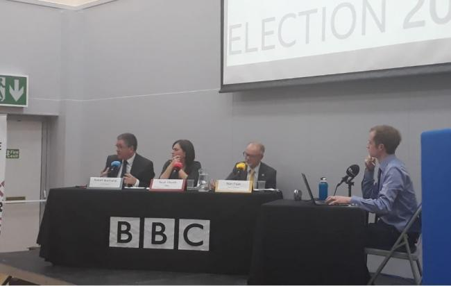 The South Swindon candidates at the Adver/BBC Hustings