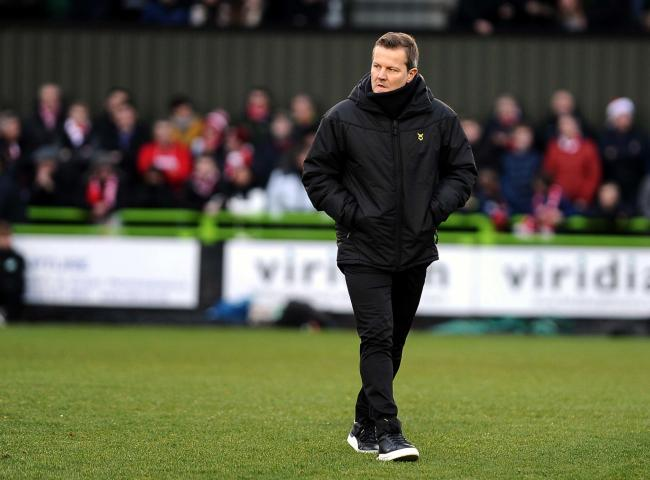 Forest Green Rovers v STFC    Pic Dave Evans   21/12/19.Mark Cooper makes his way to the dugout.