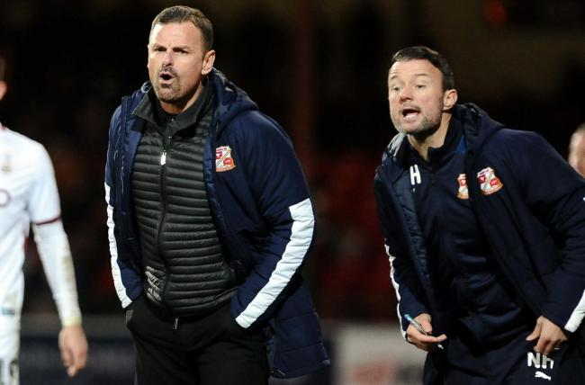 Swindon Town assistant manager Noel Hunt took charge of Tuesday night's 1-0 over Northampton Town while manager Richie Wellens was ill Picture: Dave Evans