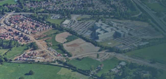 Land around the Great Western Hospital will see new houses built on it