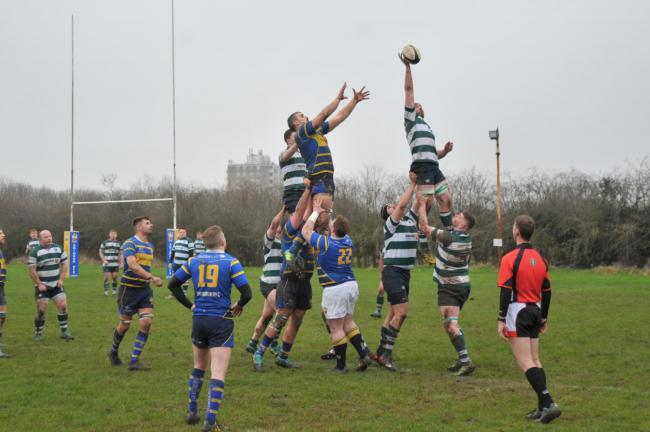 Action from earlier this season when Swindon beat Reading in the RFU Intermediate Cup 	     Picture: Dave Cox