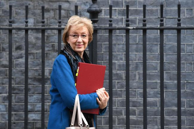 Business Secretary Andrea Leadsom leaves Downing Street, London, after a National Security Council meeting. PA Photo. Picture date: Tuesday January 28, 2020. See PA story POLITICS Huawei. Photo credit should read: Stefan Rousseau/PA Wire.