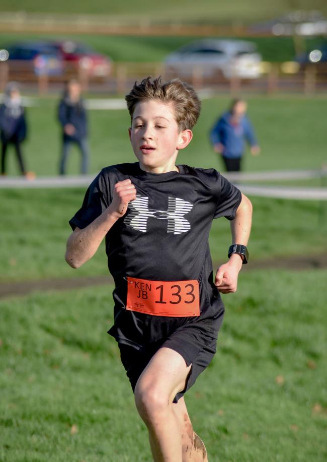 Kennet's Joshua Burns first home in the Junior Boys race..Wiltshire School's Athletics Association  Cross Country Championship in Chippenham on Saturday..Photo by www.gphillipsphotography.com GP1831.