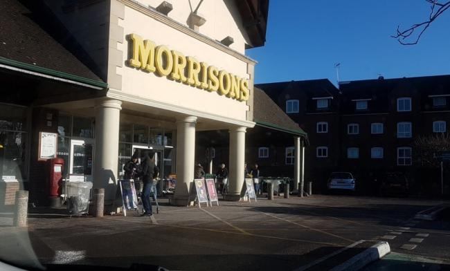 Morrisons at Warminster where the elderly woman was the victim of a distraction theft
