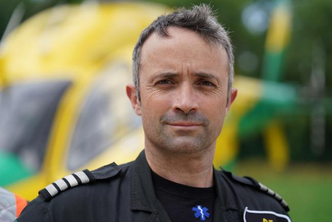Matt Wilcock, chief pilot of Wiltshire Air Ambulance