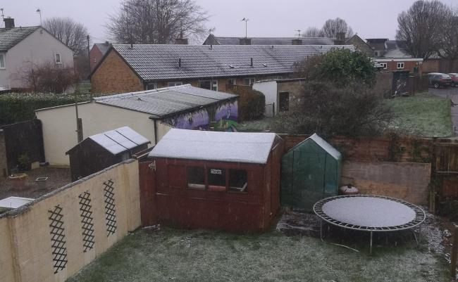 Nikkita Wills sent this photo of a dusting in Penhill
