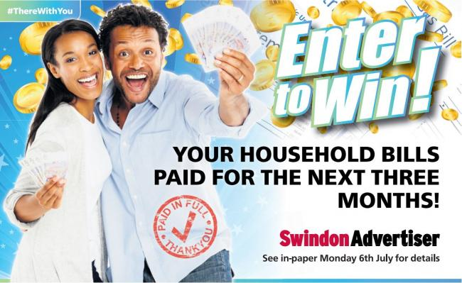 Win your household bills paid for three months