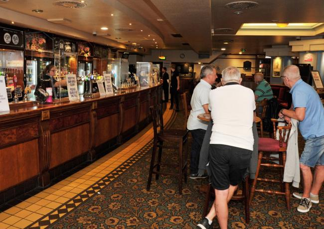 Punters return to the pub to socialise and 'just to have a pint'