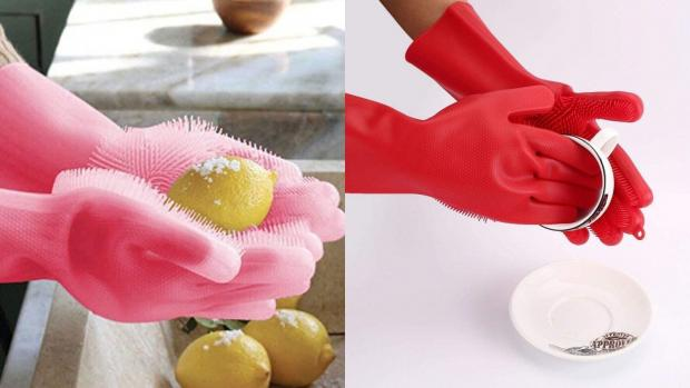 This Is Wiltshire: Gloves and sponges in one? Yes, please. Credit: Forliver