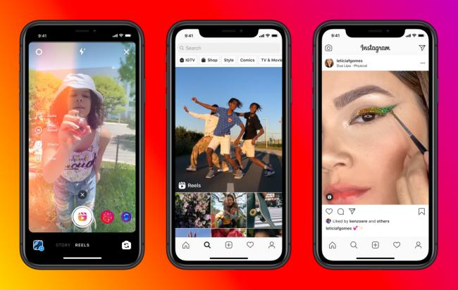 Instagram Reels: New 'Tik Tok-style' feature will add filters and music to videos. Picture: Instagram