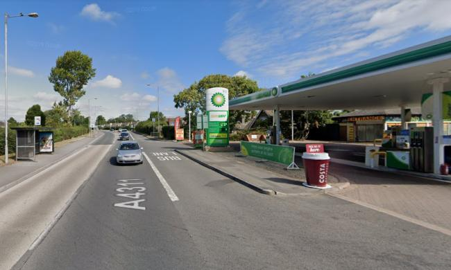 Three arrested after disorder involving knife and metal pole at petrol station