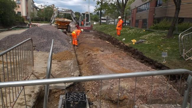 Roadworks at Mead Way have been delayed
