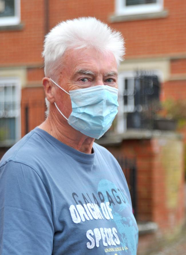 Chris Barry is a retired who wants people to be more vigilant wearing masks and has said there is no medical reason he can think of for people to be exempt from wearing masks..Pic - Chris Barry.Date 6/20/2020.Pic by Dave Cox.