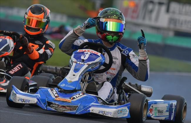 Louis Harvey wins the Junior TKM Motorsport UK British Karting Championship Title for 2020 			        Photo: Chris Walker