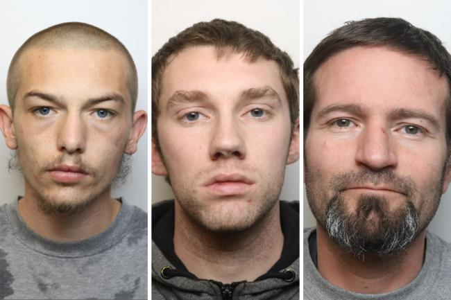 From left: Grant Townsend; Thomas Grey; Kenneth Cox Pictures: WILTSHIRE POLICE