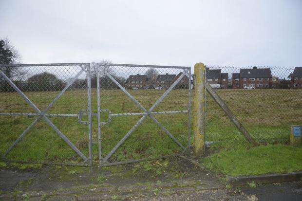 This Is Wiltshire: The site is now fenced off