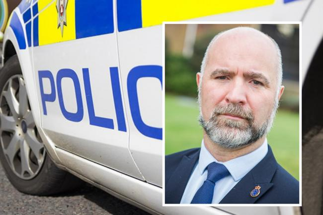 Inset: Insp Mark Andrews of Wiltshire Police Federation