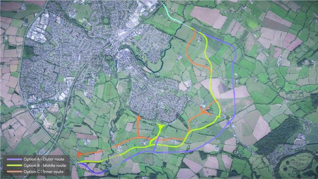 Route plans for the Chippenham distributor road