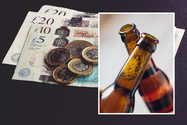 File images of cash and beer