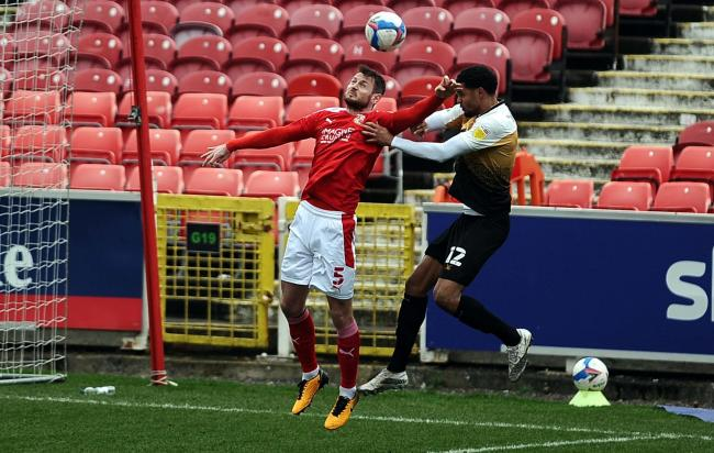 Swindon Town defender Jonathan Grounds has played 24 times in League One this season         Photo: Dave Evans